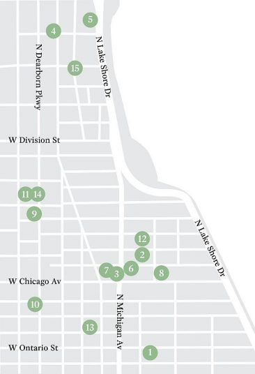 Water Tower Arts District map with 15 arts institutions (Photo courtesy of Museum of Contemporary Art)
