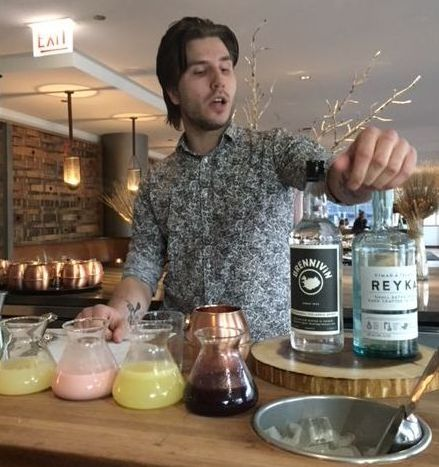 Award-winning Icelandic bartender Teitur Ridderman Schioth crafted cocktails at last year's Icelandic Festival in Chicago. )J Jacobs) photo