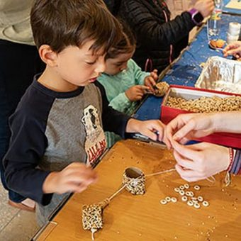 Making seed necklaces are among the Science Festival activities at the Chicago Botanic Garden. (Photo courtesy of the Chicago Botanic Garden)