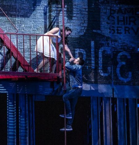 Mikaela Bennett and Corey Cott in West Side Story at Lyric Opera. (Photo by Todd Rosenberg)