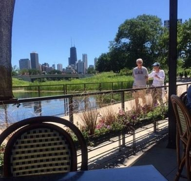The Patio at Cafe Brauer is a popular pace for drinks or food with a view. (J Jacobs photo)