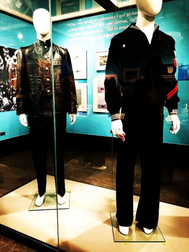 German and American uniforms in the U-505 - 75 Stories exhibit at the museum of science and Industry. (J Jacobs photo)