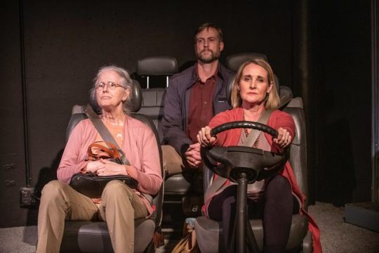 Meg Thalken, Bruch Reed and Amy Montgomery in 'Four Places' at The Den Theatre.' (Michael Brosilow photo)