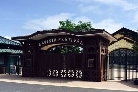 Ravinia Festival Gate at the Metra train stop, (Photo by J Jacobs)