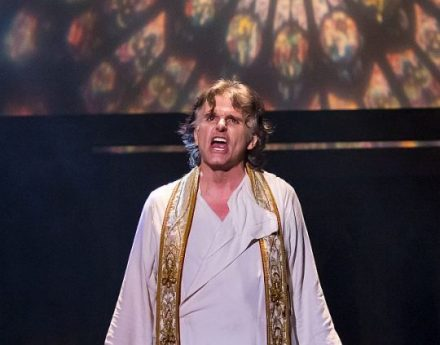 Kent Joseph as Frollo in the Music Theater Works production of Hunchback of Notre Dame. (Brett Beiner photo)