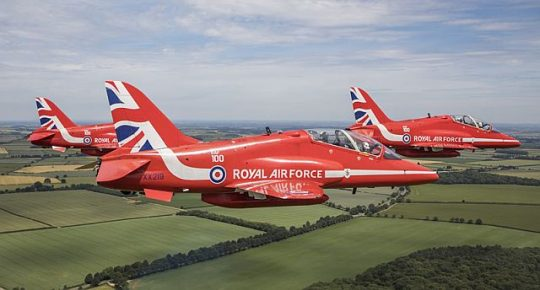 Royal Airforce Aerobatic Red Arrows will be at the Chicago Air and Water Show(Photo courtesy of the Department of Cultural Affairs and Special Events)