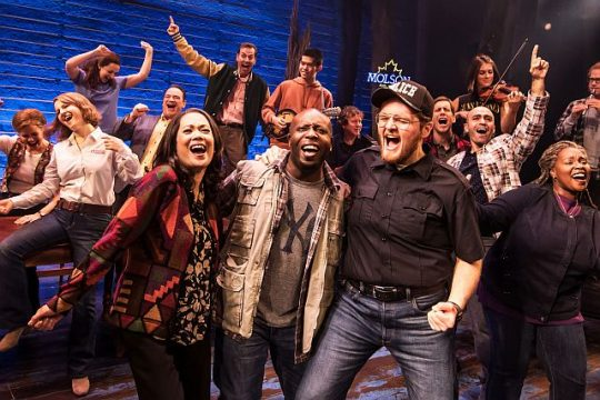 Touring cast of 'Come From Away' now at the Cadillac Palace Theatre. (Matthew Murphy photo)