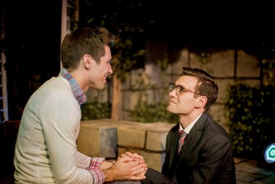 'All That He Was.' L to R: Ethan Warren, Rick Rapp. (Photos by Nicholas Swatz)
