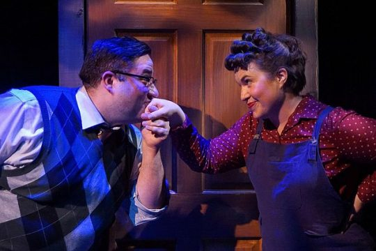 """Tommy Bullington and Sarah Beth Tanner in """"A Man of No Importance."""" (Photo by Heather Mall)"""