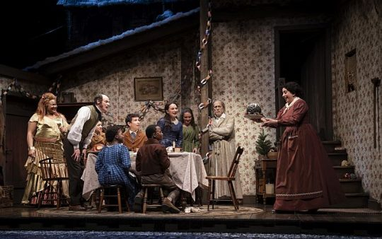 Cast of A Christmas Carol at Goodman Theatre. (Liz Lauren photo)