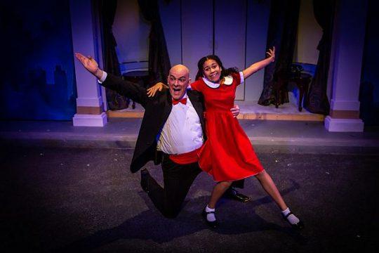 John B. Boss as Daddy Warbucks and Kayla Norris as Annie at Citadel Theatre (Photo by Carolina Menapace )