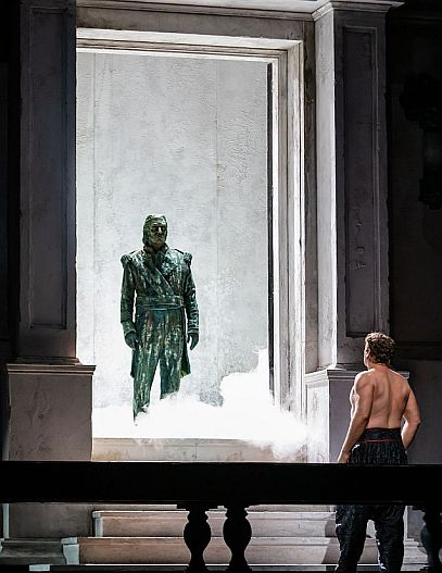 Mika Kares and Lucas Meachem in Don Giovanni at Lyric Opera of Chicago. (Kyle Flubacker photo)