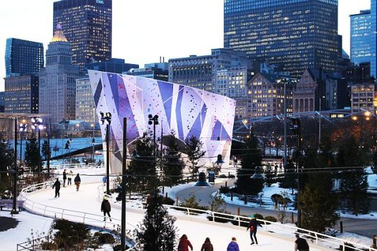 Slate on the Ribbon Ice Rink at Maggie Daley Park next to Millennium Park. (City of Chicago photo)