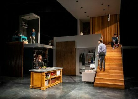From L. Kyrie Courter (Natalie )Keely Vasquez (Diana) David Schlumpf (Dan) and Liam Oh (Gabe) in Next to Normal at Writers Theatre. (Photo by Michael Brosilow)