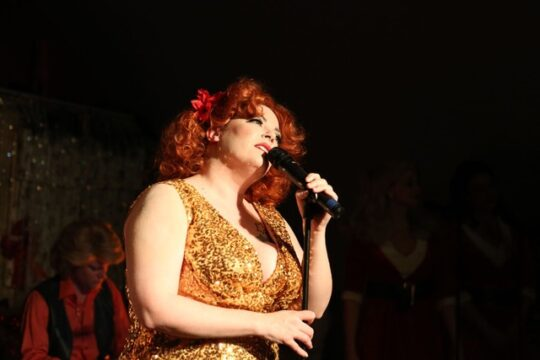 Cailin Jackson as Bette Midler at Mary's Attic. (Photo by Rick Aguilar Studios)
