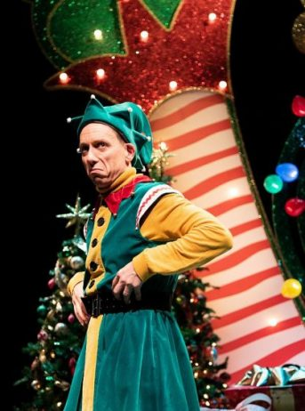 Santaland Diaries is at Goodman Theatre. (Steven Strafford in the one-man-show of The Santaland Diaries at Goodman Theatre. (Cody Nieset photo)