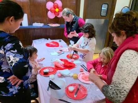 Families decorate cookies and cupcakes at Max and Benny's. (Photo courtesy of Max and Benny's)