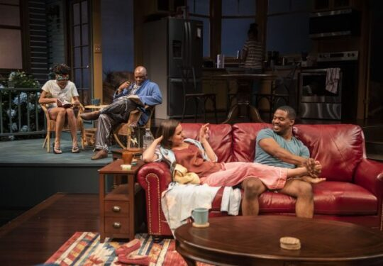 Latimore, Anderson, Holder, Henning in Stick Fly at Writers Theatre. (Michael Brosilow photo)
