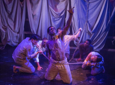 Mlima's Tale at Raven Theatre. (Photo by Michael Brosilow)