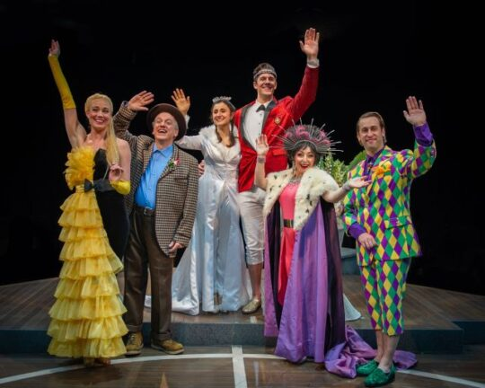 Cast of the Princess and the Pea at Marriott Theatre. (photo courtesy of Marriott Theatre)
