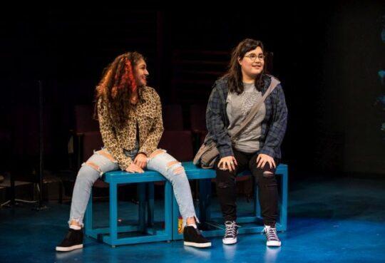(L to R) Leslie Sophia Perez (Lorena) and Karen Rodriguez (Julia) at Steppenwolf. (Michael Brosilow photo)
