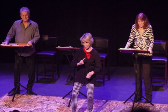 left to right Adrian Zmed, Sandy Duncan, Kate Buddeke in Middletown. (Photo courtesy of GFrour Productions)