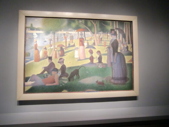 Art Institute's popular painting by Georges Seurat . (J Jacobs photgo)