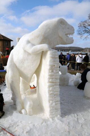 Snow Sculpture in Lake Geneva, WI (Photo courtesy of Lake Geneva tourism)