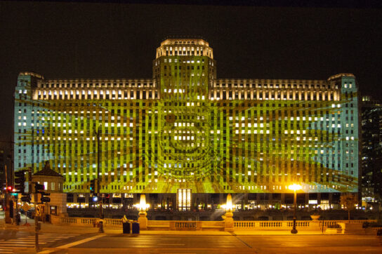 projections on theMart start April 1. No joke. (Photo courtesy of Adler Planetarium)