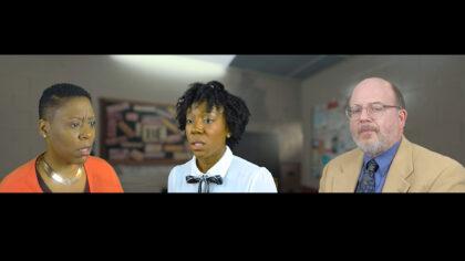 Lisa Rosetta Strum, Melissa Joyner and Jeffrey Bean in 'Lines in the Dust'. (New Normal Rep photo)