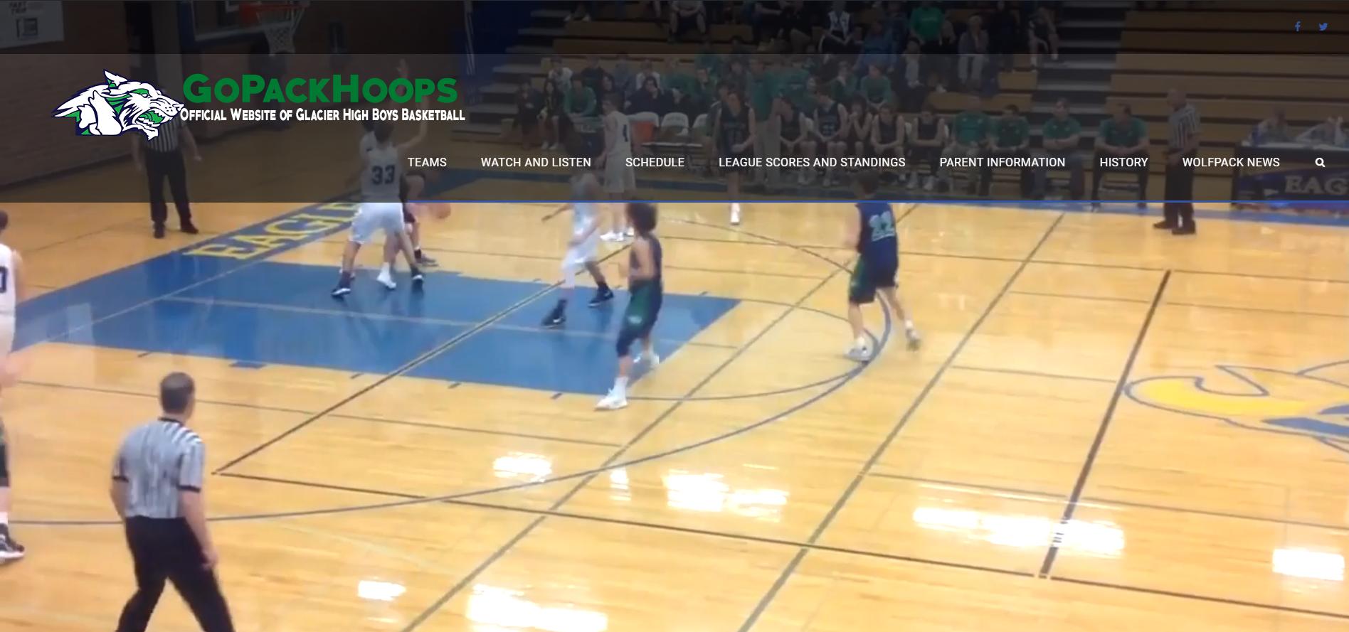glacier high school boys basketball screenshot