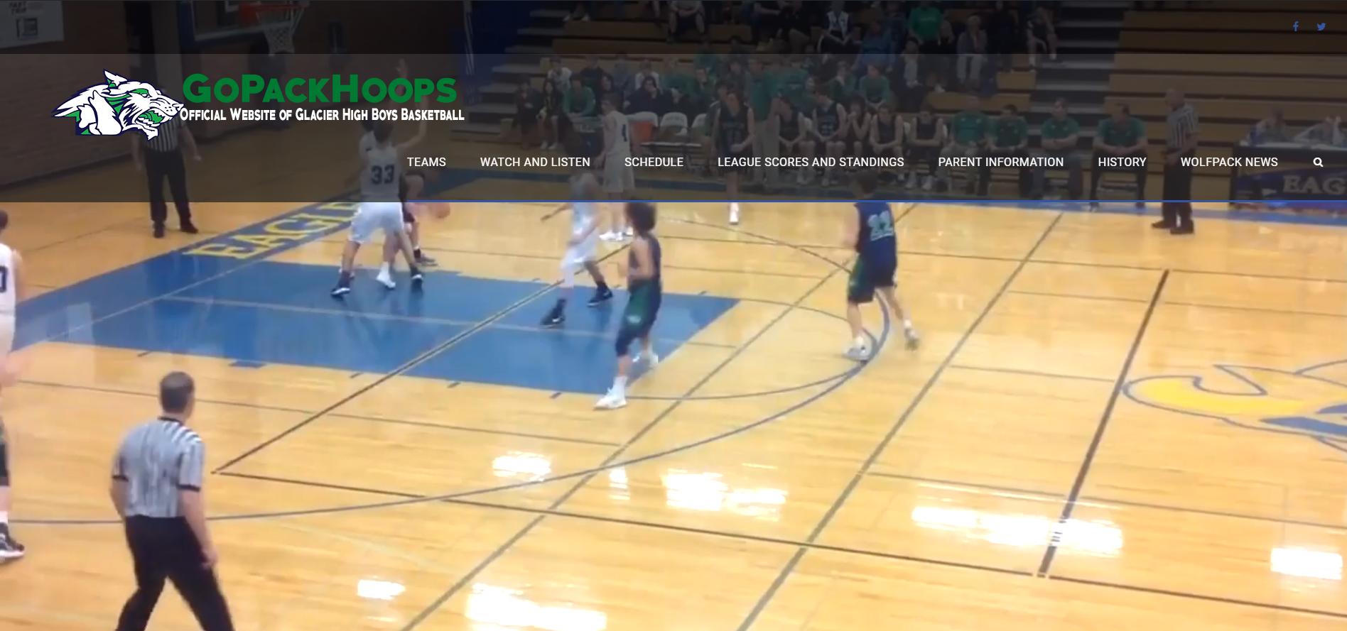 glacier high school boys basketball screenshot