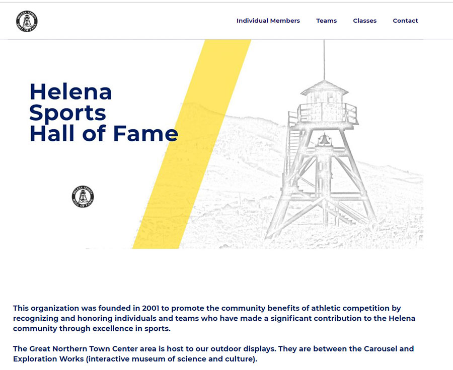 Helena Sports Hall of Fame screenshot