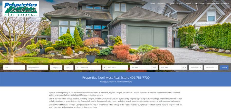 properties northwest real estate screenshot