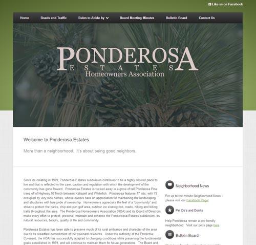Ponderosa Estates Homeowners Association