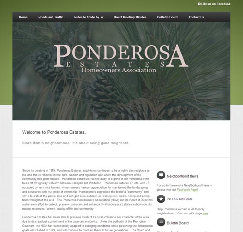 Ponderosa Estates Homeowners Association