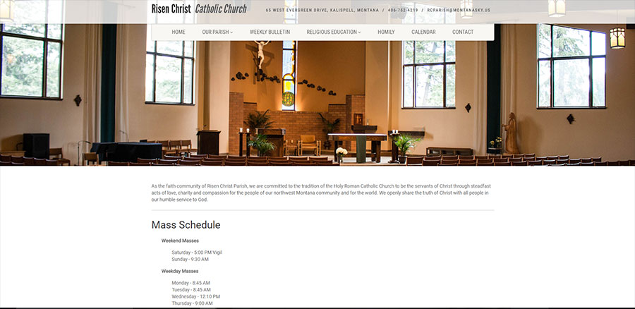 risen christ catholic church screenshot