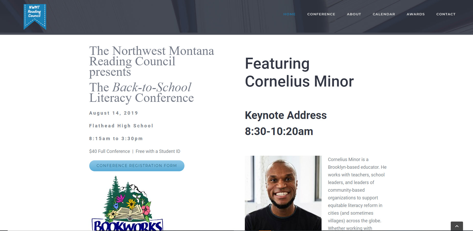 screenshot of northwest montana reading council