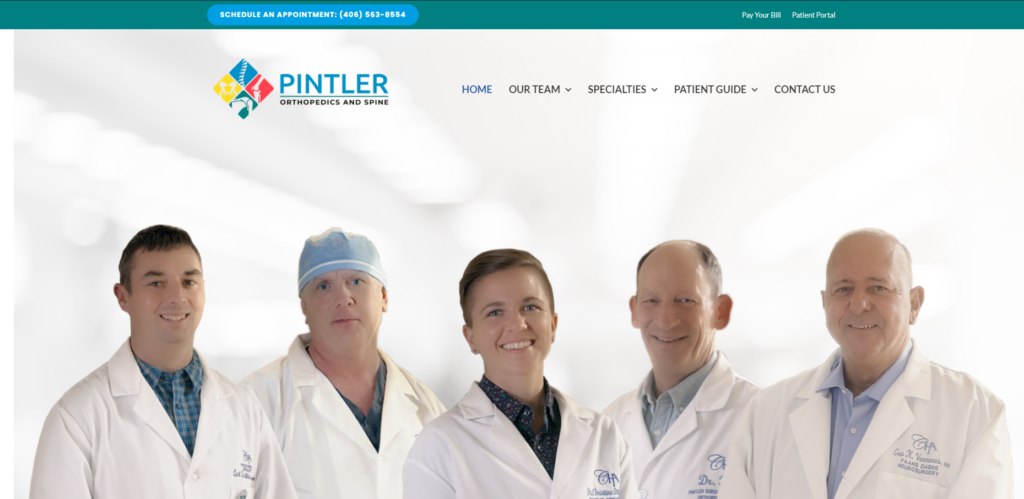 pintler orthopedics and spine