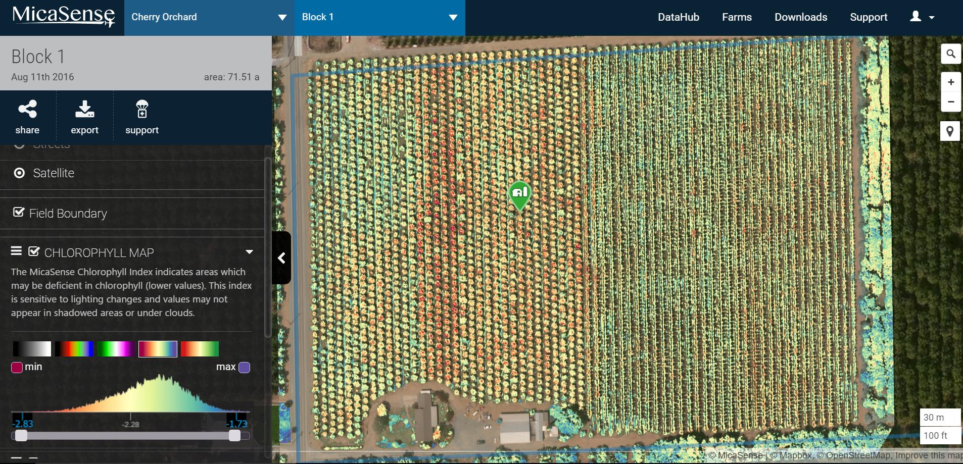 Interactive farm map