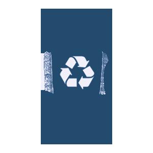 blue recycling cart
