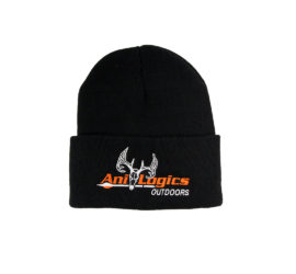 ani-logics black cuffed hat