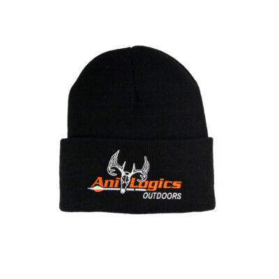 ani-logics black cuffed hat