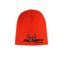 ani-logics blaze orange skull cap
