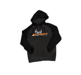ani-logics favorite hooded dark gray sweatshirt