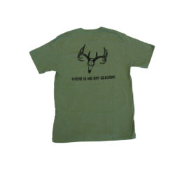 ani-logics green t-shirt back