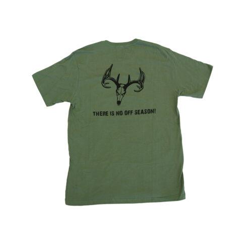 ani-logics green t-shirt back