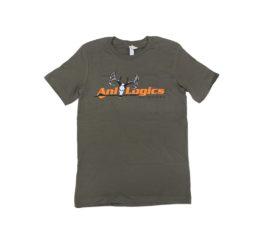 ani-logics military green t-shirt