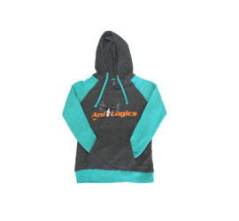 ani-logics womens teal sweatshirt