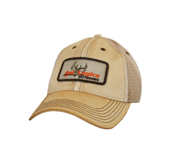 ani-logics dirty tan trucker hat